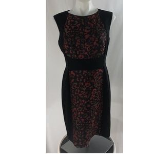 TAHARI ASL Womens Sz 10P Black Red Sleeveless NEW